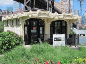 Summer is a wonderful time to visit the Roosevelt Island Visitor Kiosk!