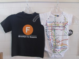 NYC F Line Subway Baby T-Shirt and Subway Map Onesie - $8 each