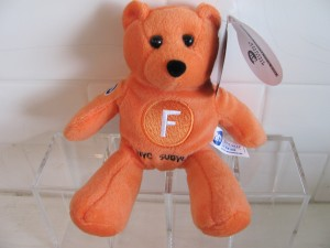 F-Train Beanie Bear - $8